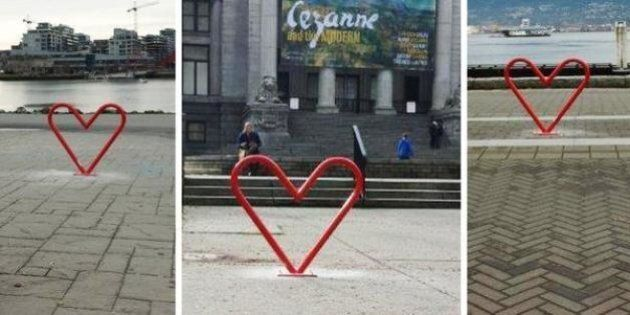 Vancouver's Heart-Shaped Bike Racks Get Cyclists In The V-Day