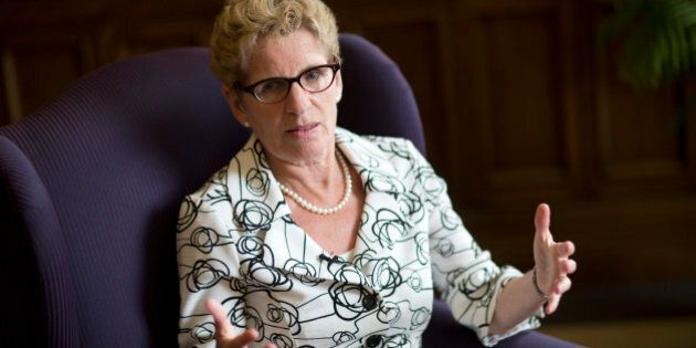 TORONTO , ON - JULY 17: Premier Kathleen Wynne granted a private audience to The Star in her office after...