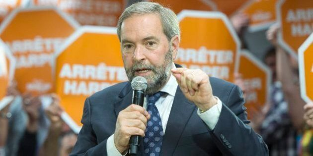 Tom Mulcair Says Liberal Party 'Pulling The Same Old