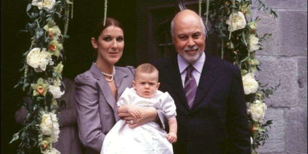 CANADA - JULY 25: Christening of Rene Charles son of Celine Dion and Rene Angelil In Canada On July 25,...