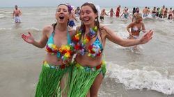 Annual 'Polar Bear Swim' Draws Thousands Across
