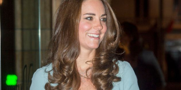 Britain's Catherine Duchess of Cambridge arrives at the Natural History Museum in London, Tuesday, Oct....