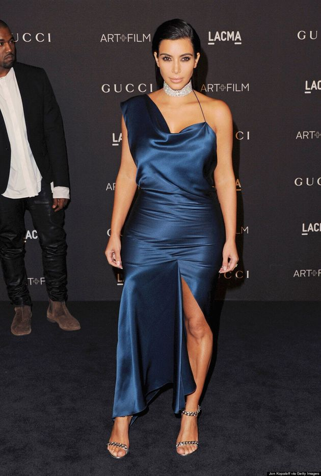 Kim Kardashian Gets Leggy At 2014 LACMA