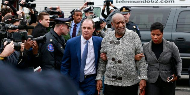 Bill Cosby is arraigned at Montgomery County District Court in Cheltenham, Pa., on Wednesday, Dec. 30,...