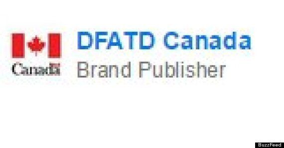Foreign Affairs Canada Uses BuzzFeed Lists To Slam Its
