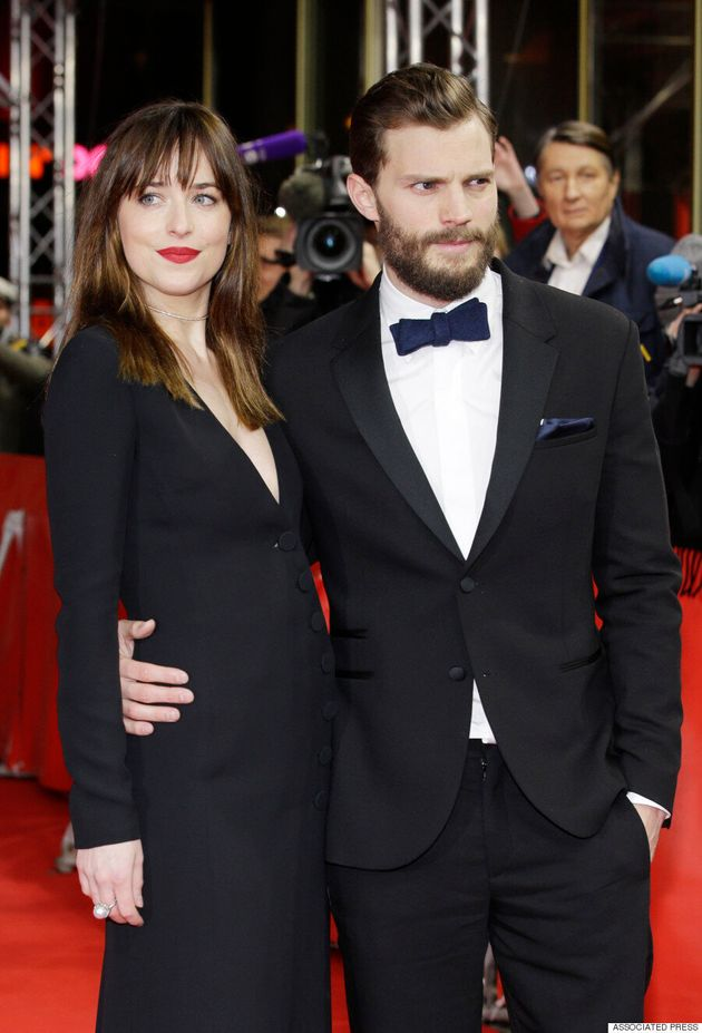 Dakota Johnson And Jamie Dornan Make A Striking Couple At 'Fifty Shades Of Grey'