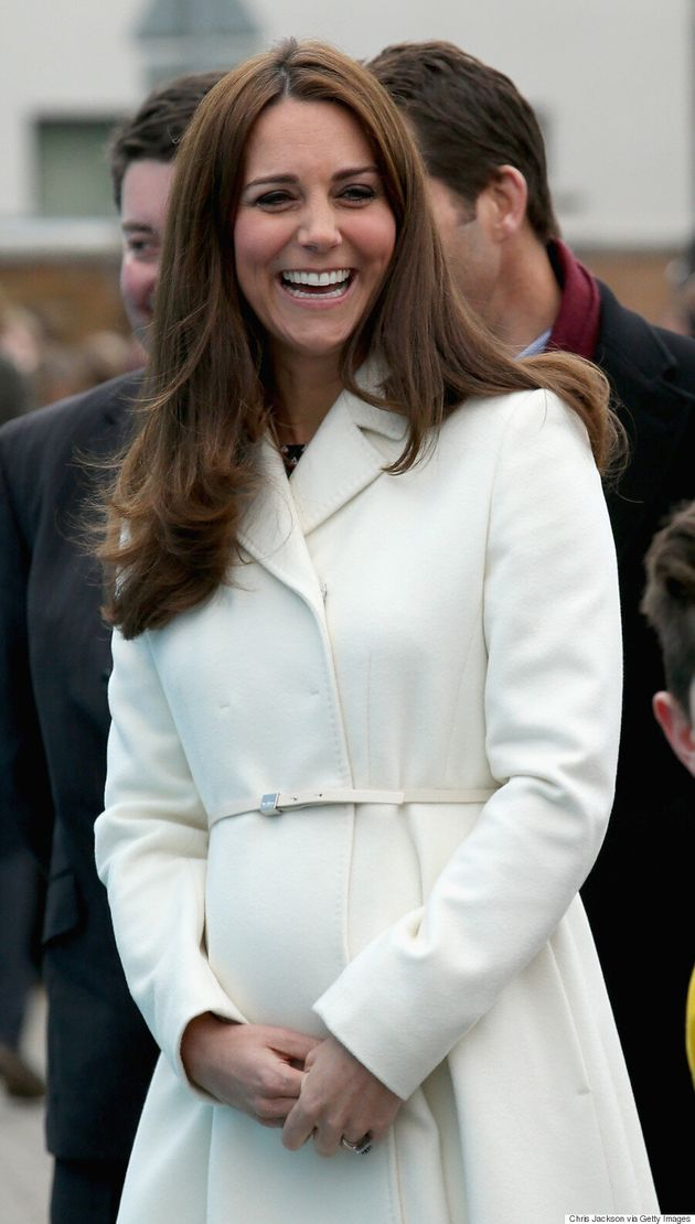Kate Middleton's Belly Is In Full Bloom Under Chic White