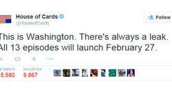 'House Of Cards' Posts Perfect Response To Season 3