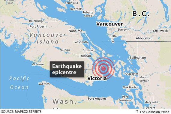 Earthquake In B.C. Felt Throughout South