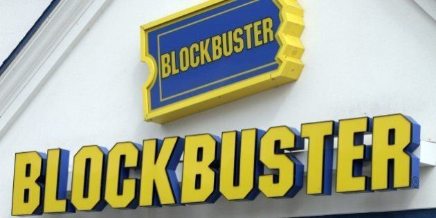 A Blockbuster sign on a store is seen in Barre, Vt., Wednesday, Sept. 22, 2010. Troubled video-rental...