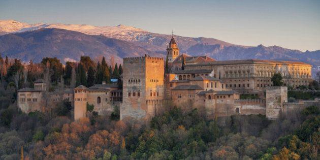 Alhambra at sunset, Granada,
