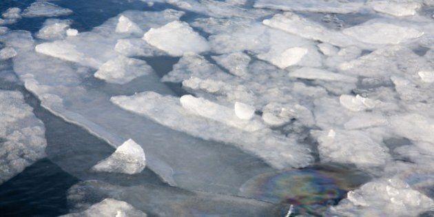 Norway, Kirkeness, near to the Russian border Fiord Frozen