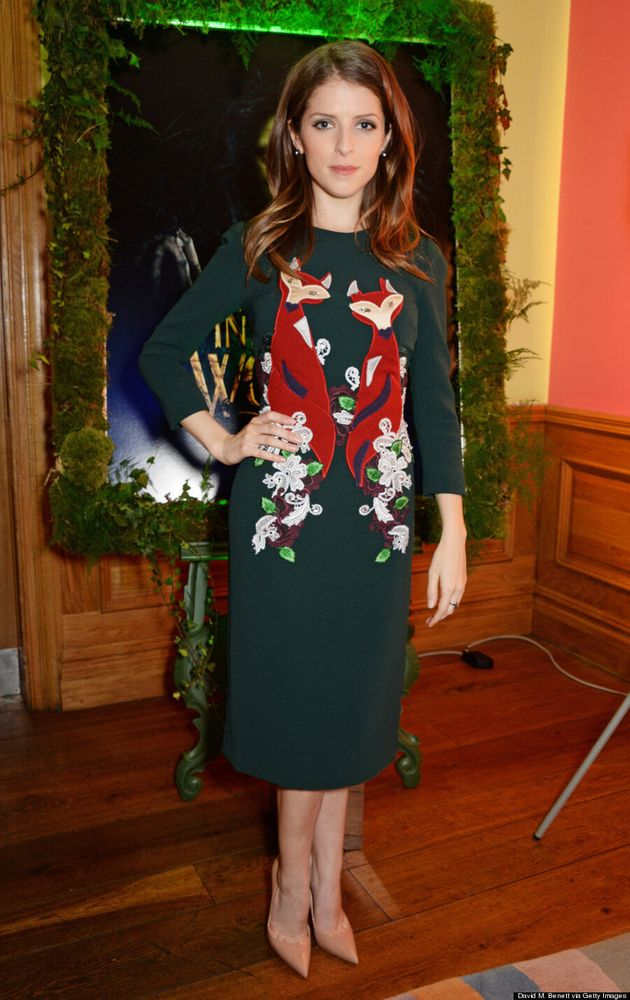 Anna Kendrick Nails Holiday Style In Red Velvet