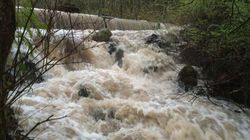 Mission, B.C. Flash Flood Rushes Through