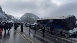 Head-On Bus Crash Closes B.C.