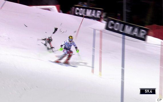 Drone Nearly Hits Skier During World Cup In