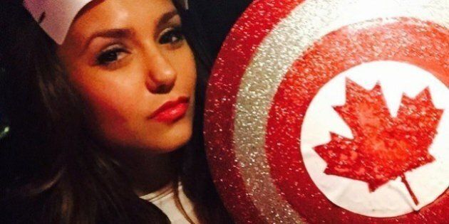 Nina Dobrev Dresses As Captain Canada For Halloween, Wins Our Hearts By Doing