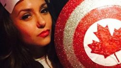 LOOK: Nina Dobrev Is Captain Canada, Wins Our
