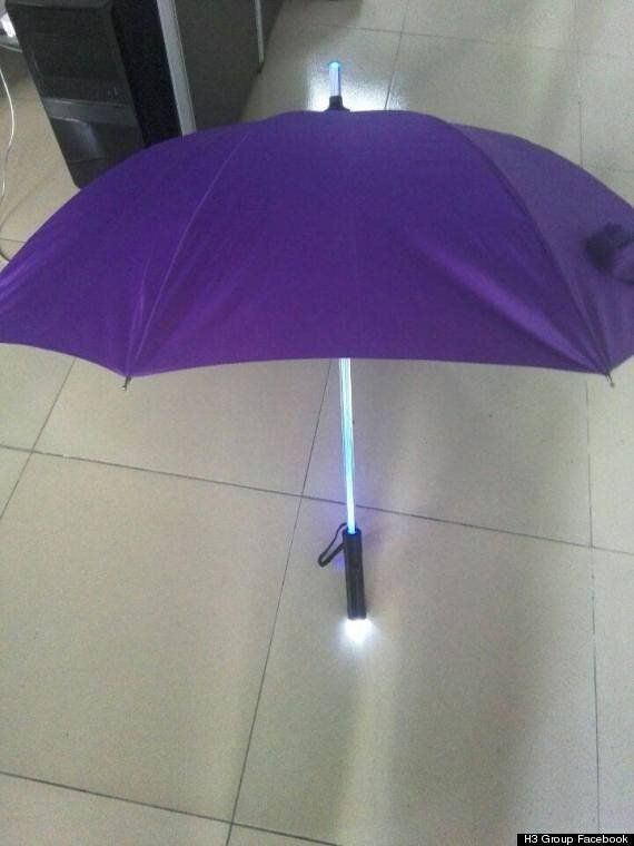 'Lightsaber' Umbrellas Will Keep You Dry AND Safe, Young