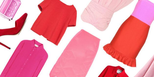 How To Wear Red And Pink