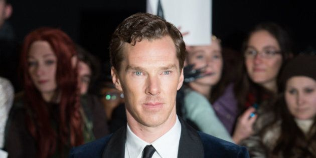 LONDON, ENGLAND - DECEMBER 01: Benedict Cumberbatch attends the World Premiere of 'The Hobbit: The Battle...