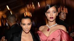 Rihanna Towers Over Kim