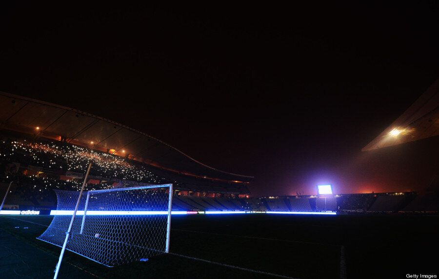 When The Lights Went Out On This Soccer Game, The Fans Did Something