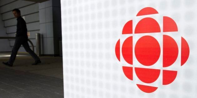 A man leaves the CBC building in Toronto on Wednesday, April 4, 2012. CBC/Radio-Canada has announced...