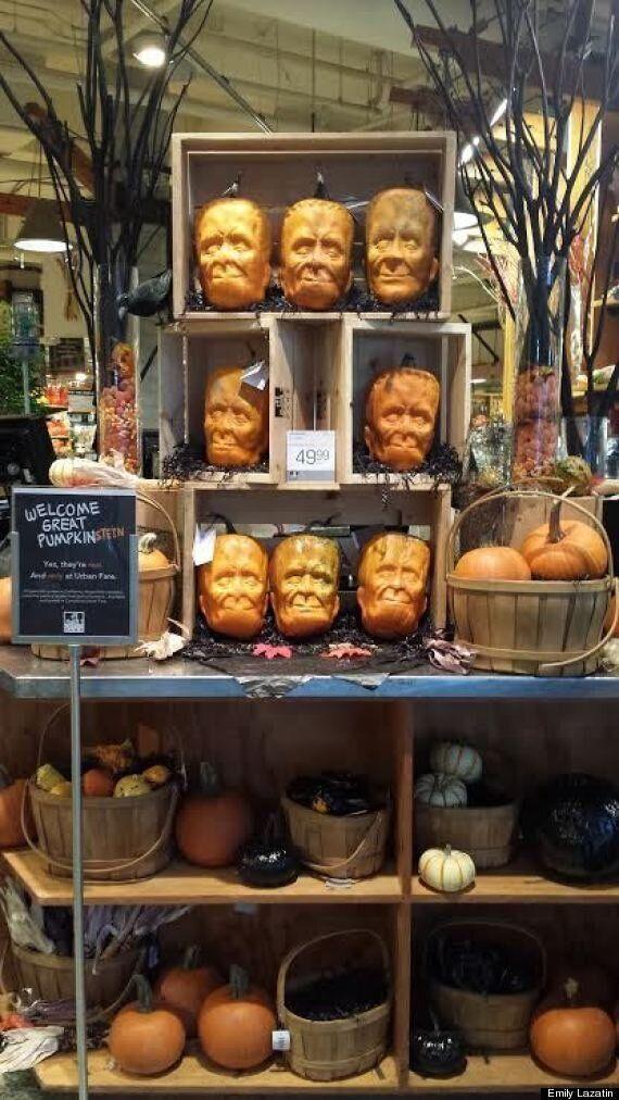 Frankenstein Pumpkins Scare Vancouver Customers For