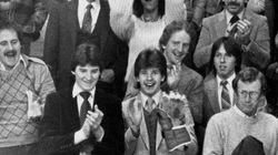 Spot The Teenaged Future Hockey Phenom Applauding His