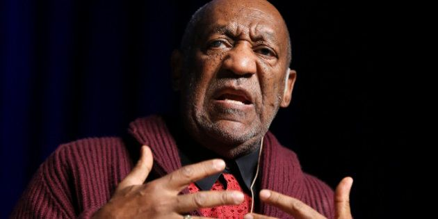 FILE - In this Nov. 6, 2013 file photo, comedian Bill Cosby performs at the Stand Up for Heroes event...