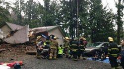 Vancouver Island Mudslide Destroys Home, Traps