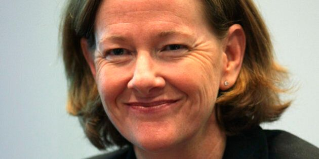 Alison Redford, premier of Canada's Alberta province, smiles during an interview in New York, U.S., on...