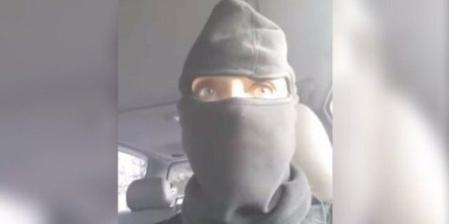 Gail Thorne, Calgary Woman, Votes In Ski Mask As