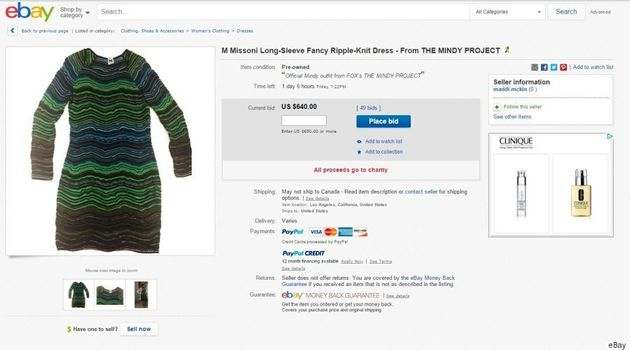 Mindy Kaling Is Auctioning Off 'The Mindy Project' Clothes For A Good
