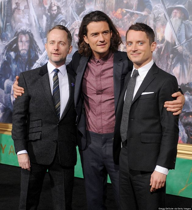 Elijah Wood Reunites With 'Lord Of The Rings' Co-Stars On 'The Hobbit' Red