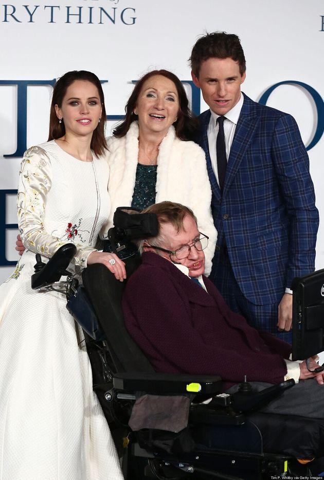 Stephen Hawking Joins Eddie Redmayne, Felicity Jones On 'Theory Of Everything' Red
