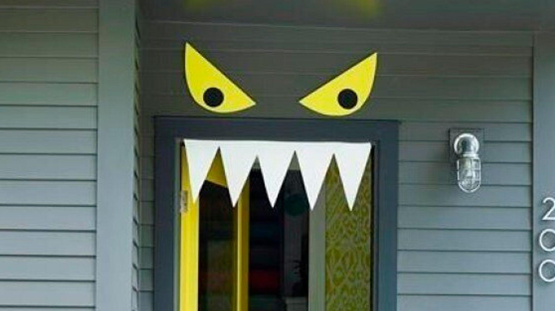 9 Easy DIY Halloween Door Decorations For This Month