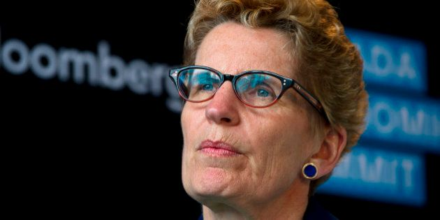 Kathleen Wynne, premier of Ontario, speaks at the Bloomberg Canada Economic Summit in Toronto, Ontario,...
