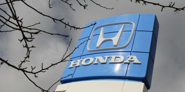 EL CERRITO, CA - FEBRUARY 10: The Honda logo is displayed at Honda of El Cerrito February 10, 2010 in...