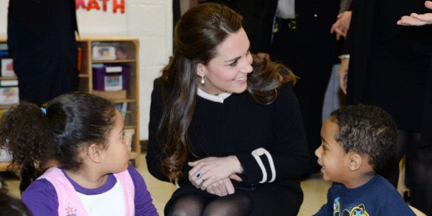 NEW YORK, NY - DECEMBER 08: Catherine, Duchess of Cambridge during a visit to the Northside Center for...
