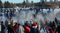 1,500 People Battle It Out In Epic Snowball