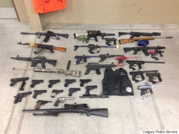 Calgary Police Seize Over 200 Weapons From Northeast