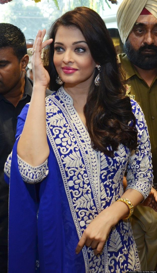 Aishwarya Rai Is A Vision In A Blue Suit And Gucci