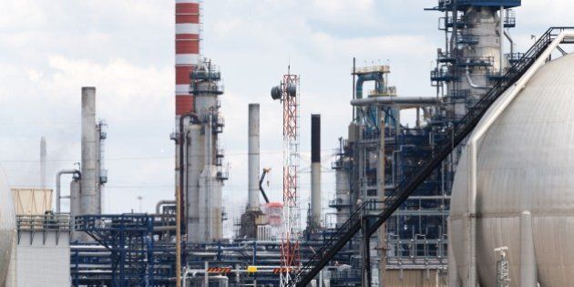 The Suncor refinery in Edmonton, Canada seen here on June 17, 2015 has, according to the company, a capacity...