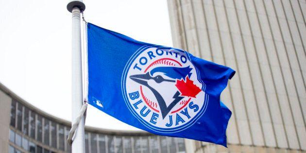TORONTO, ON - OCTOBER 6 - Toronto Mayor John Tory held a special flag raising for the Toronto Blue Jays...