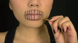 This Creepy Stitch Makeup Will Be Sure To Scare Your Friends This