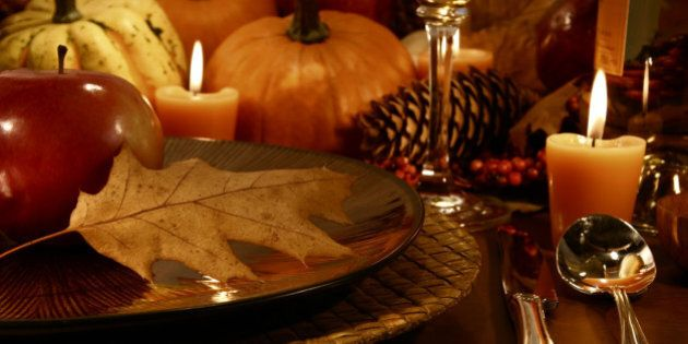 Place setting for Thanksgiving
