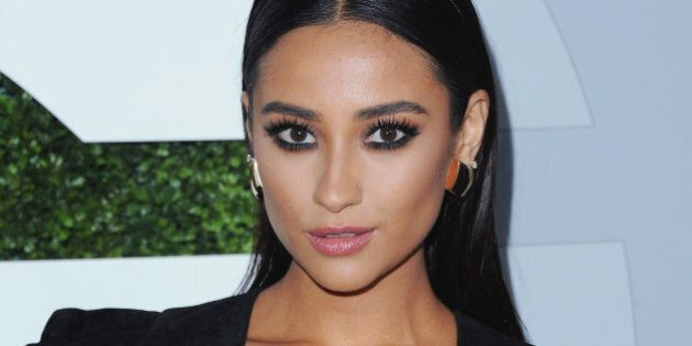 LOS ANGELES, CA - DECEMBER 04: Actress Shay Mitchell arrives at the 2014 GQ Men Of The Year Party at...