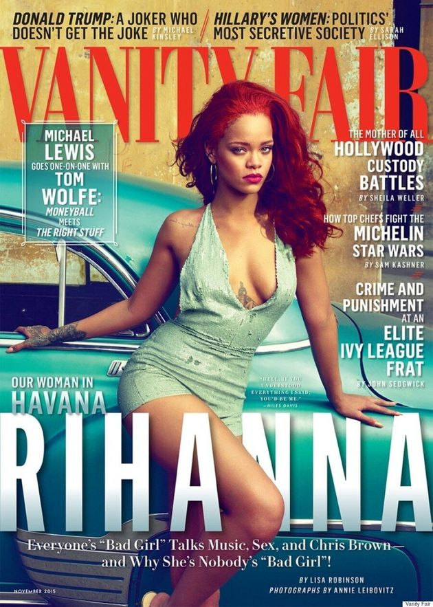 Rihanna And Her Fiery Red Hair Front Vanity Fair's November